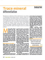 Trace Mineral Differentiation